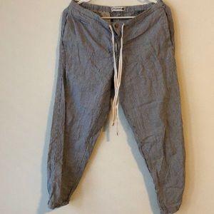 Uniqlo Pants - UNIQLO cotton/linen drawstring pants